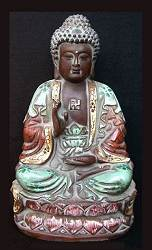 Vintage ceramic Chinese Buddha (9 in. tall)