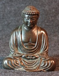 Small Chinese Solid Bronze Buddha (4 in. tall) - early 20th C