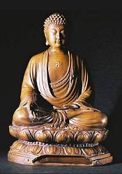 Fine Contemporary Chinese Bronze Buddha (11 in. tall)