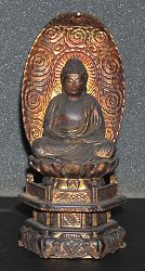 Japanese Buddha - gilt carved wood - (7 in. tall) Edo period 18th century
