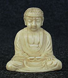 small Chinese ivory Buddha (2.5 in. tall)