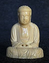 small Japanese ivory Buddha (1.75 in. tall)