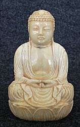 Ivory Okimono - Japanese Buddha (3 in. tall) - 19th C