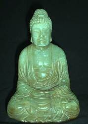 Genuine Jadeite Buddha (5 in. tall) - Chinese Qing Dynasty