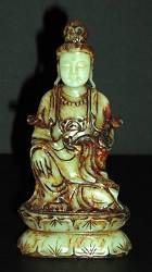 Jade Kwanyin - vintage carving (6 in. tall)