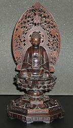 Japanese Buddha -  exceptional boxwood carving (11.5 in. tall) - Meiji period late 19th C