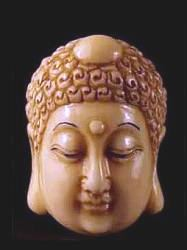 Ivory Netsuke - Japanese Buddha 20th C