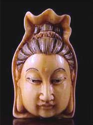 Ivory Netsuke - Japanese Kwanyin 20th C