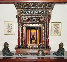 Antique Tibetan Buddhst Shrine